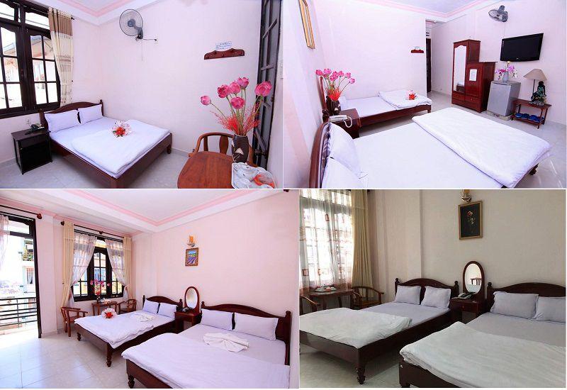 Không gian các phòng nghỉ bên trong Khách sạn Quỳnh Giao ở Đà Lạt