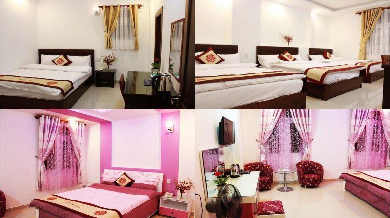 Các phòng bên trong khách sạn Xuân Hồng 2 ở Đà Lạt