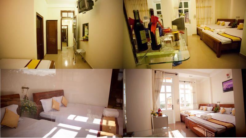 Không gian các phòng bên trong khách sạn Happy Day 1 ở Đà Lạt