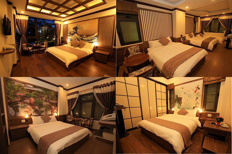 Không gian các phòng nghỉ bên trong khách sạn Khải Ngọc ở Đà Lạt