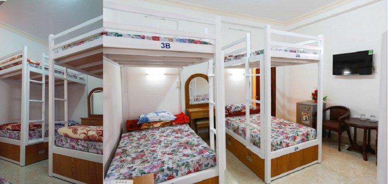 Các phòng ngủ tập thể bên trong Khách sạn Quốc Hương tại Đà Lạt