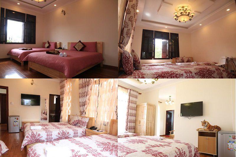 Các phòng nghỉ bên trong Khách sạn Đăng Uyên 2 ở Đà Lạt