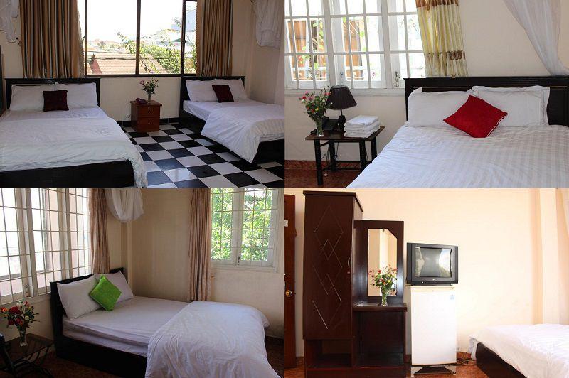 Các phòng nghỉ bên trong Khách sạn Hải Quyên ở Đà Lạt