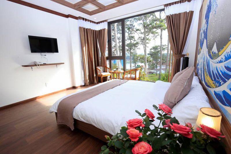 Phòng ngủ ở khách sạn Khải Ngọc Đà Lạt