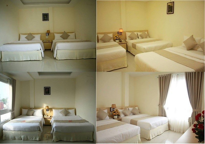 Các phòng nghỉ bên trong khách sạn Ngọc Nguyên Anh ở Đà Lạt