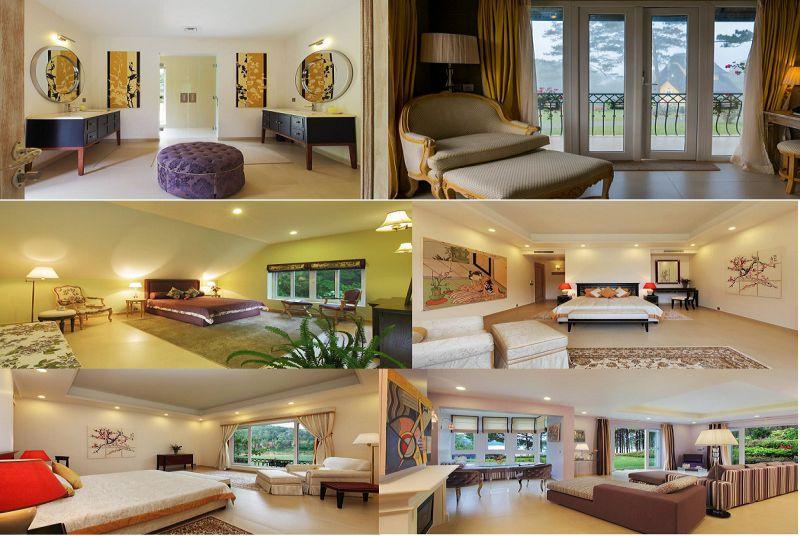 Không gian và các phòng nghỉ bên trong Resort Đà Lạt Làng Bình An village