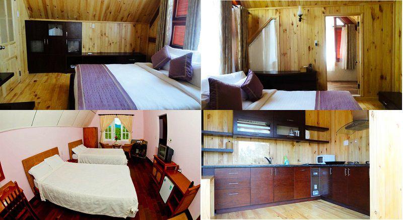 Không gian và các phòng nghỉ bên trong Mộng mơ Resort ở Đà Lạt