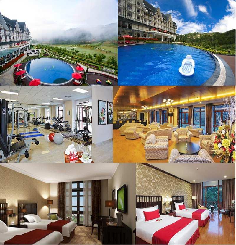 Không gian và các phòng nghỉ ở bên trong Resort Đà Lạt Swiss-Bel