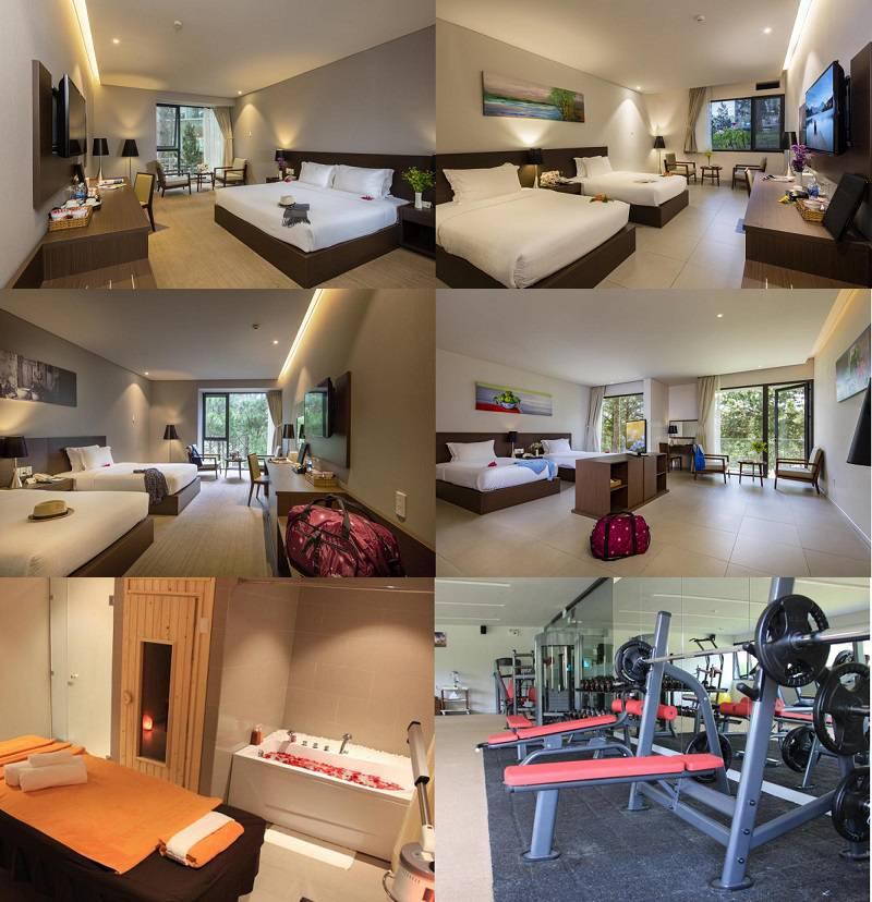 Không gian và các phòng nghỉ ở bên trong Resort Đà Lạt Terracotta