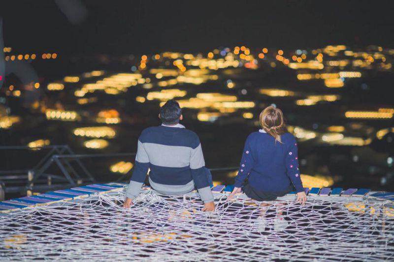 hình ảnh thành phố Đà Lạt lung linh về đêm khi ngắm nhìn ở homestay Sunny Farm