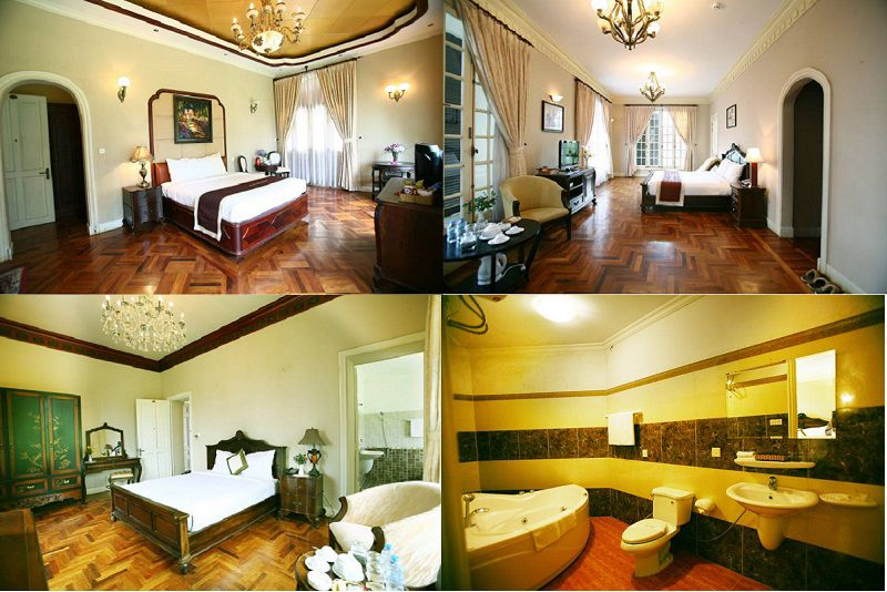 Không gian và các phòng nghỉ bên trong Cadasa resort ở Đà Lạt