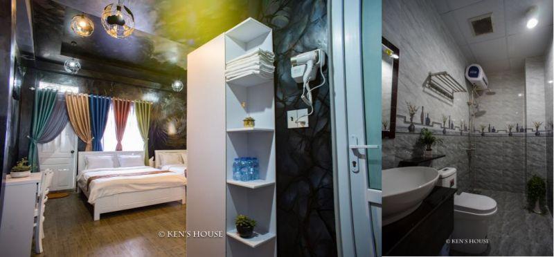 Tiện nghi khá đầy đủ và chất lượng ở khách sạn Ken's House ở Đà Lạt