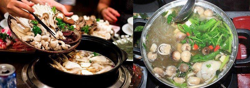 Lẫu nấm thập cẩm là món ăn ngon nhất ở Túy Tửu Lầu.