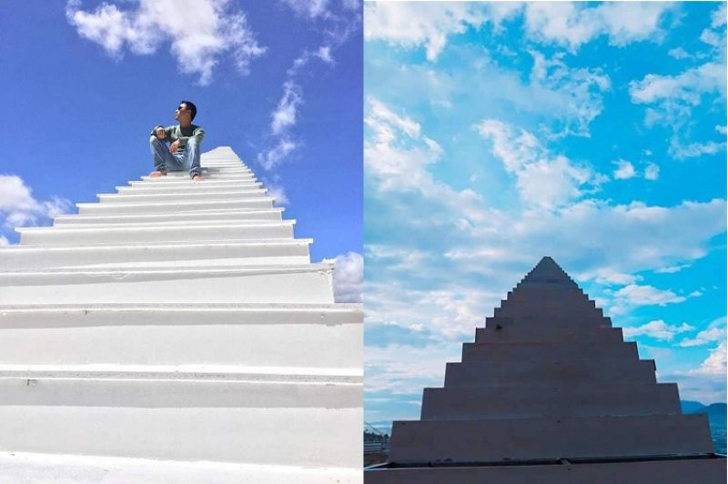 Hình ảnh nấc thang lên thiên đường Đà Lạt sự khác biệt giữa hai thời gian