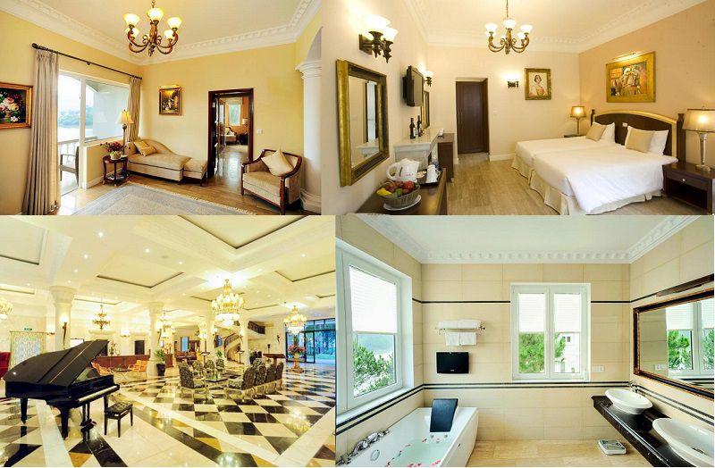 Không gian và các phòng nghỉ bên trong Edensee lake Resort & Spa ở Đà Lạt