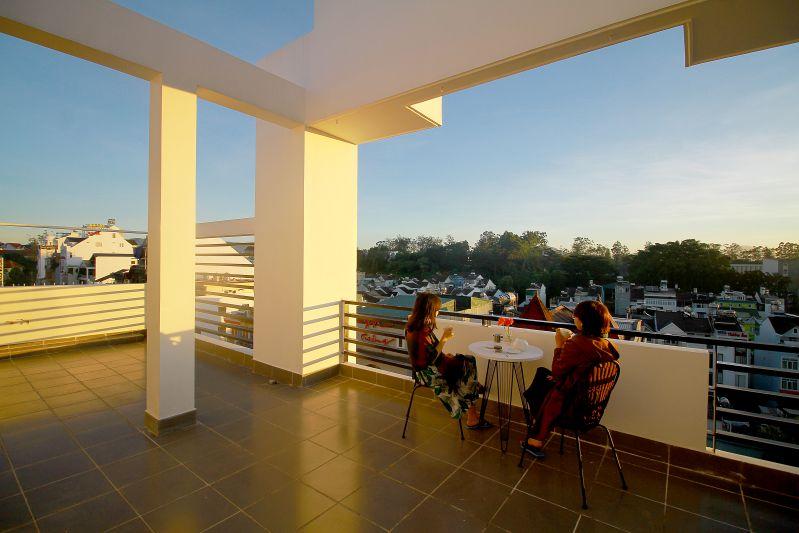 View ngắm thành phố Đà Lạt từ Eco Green Hotel
