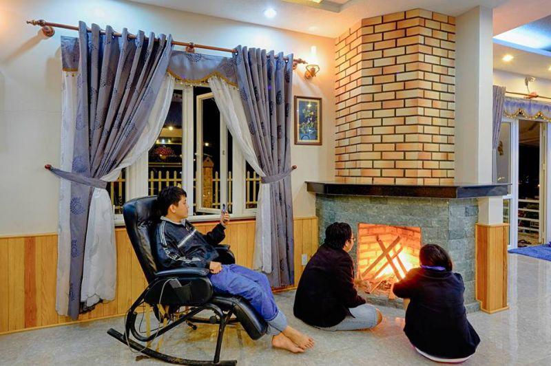 Không khí ấm áp bên trong Thái Phiên villa Đà Lạt