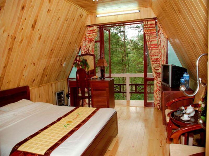 Một phòng nghỉ tại khu nghỉ dưỡng Minh Tâm Hotel Đà Lạt