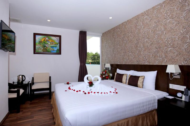 Một phòng nghỉ ở Kings Hotel Dalat
