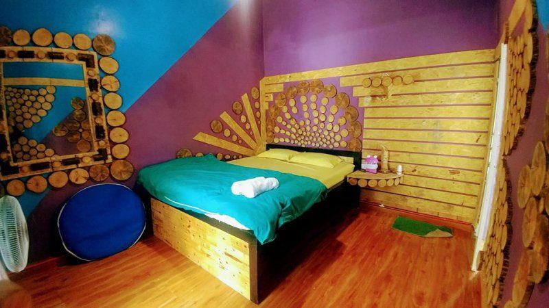 Phòng ngủ khá xinh xắn bên trong Sakura homestay Đà Lạt gần chợ