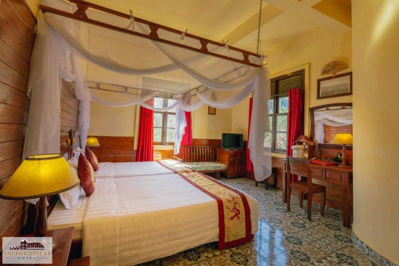 Phòng nghỉ ở Khách sạn Saphir Hotel Đà Lạt