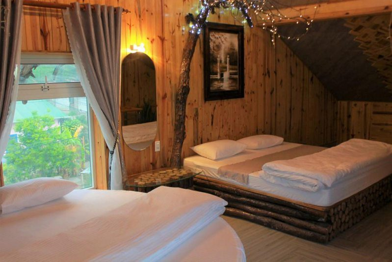Một phòng nghỉ tại Khách sạn Strawberry Garden ở Đà Lạt