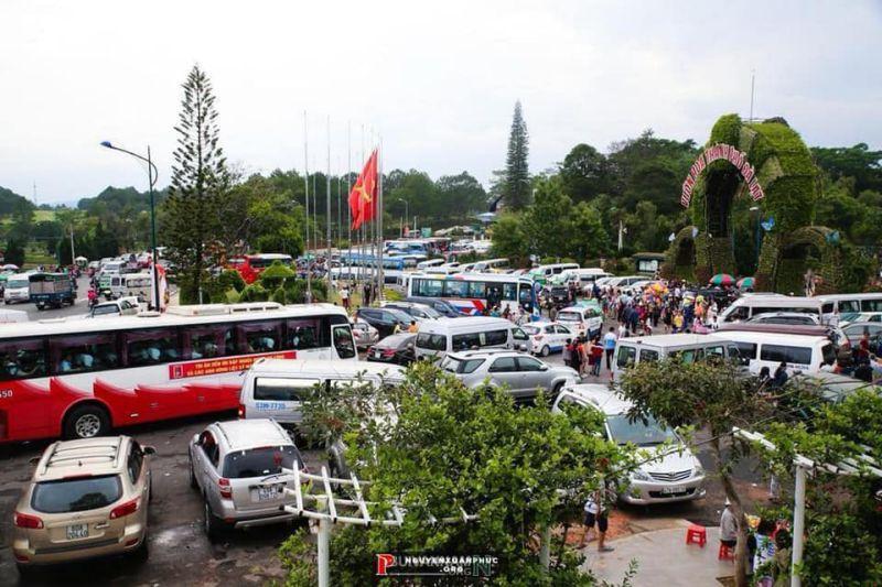 Vườn hoa thành phố Đà Lạt tháng 2 cũng rất đông khách