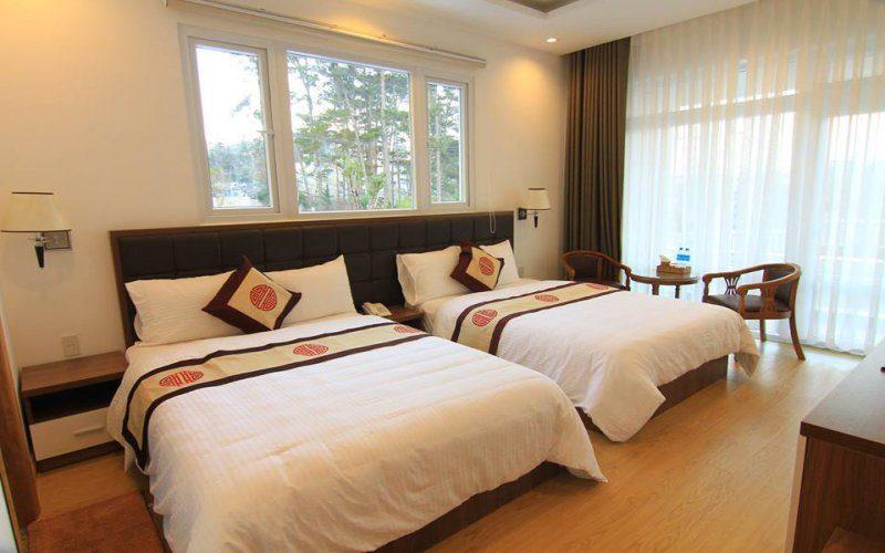 Phòng sang trọng, sạch sẽ trong khách sạn Nhật Vy Đà Lạt