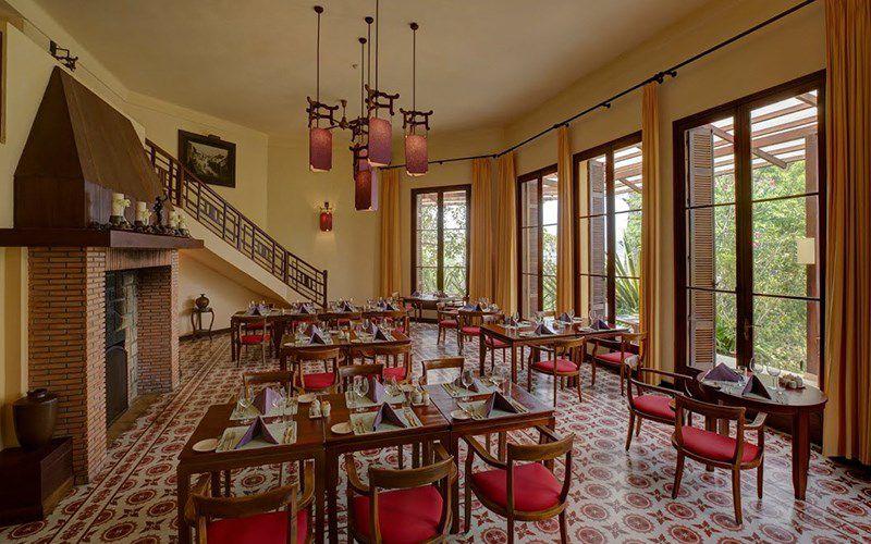 Nhà hàng mang đậm kiến trúc Pháp