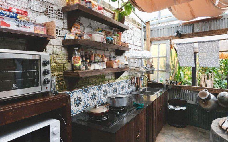 Huong Thao Villa 's kitchen area