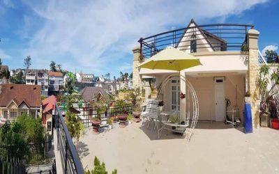 Sân thượng của villa Phạm Hồng Thái