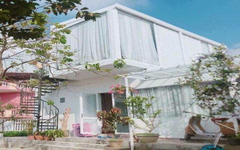 White villa-villa màu trắng lãng mạn