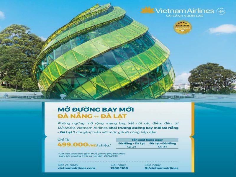 Vé máy bay đi Đà Lạt từ Đà Nẵng