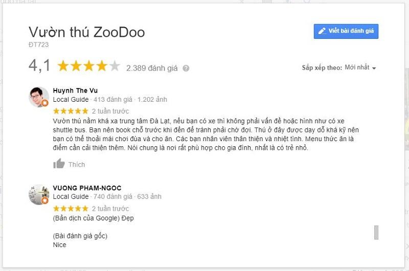 Review Zoodoo Đà Lạt