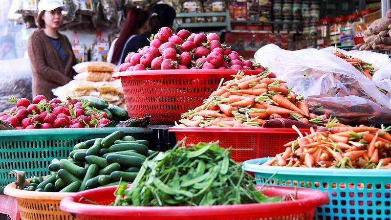 Nông sản ở chợ Đà Lạt
