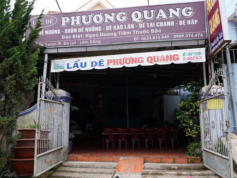 Phương Quang một trong những quán lẩu dê ngon tại Đà Lạt
