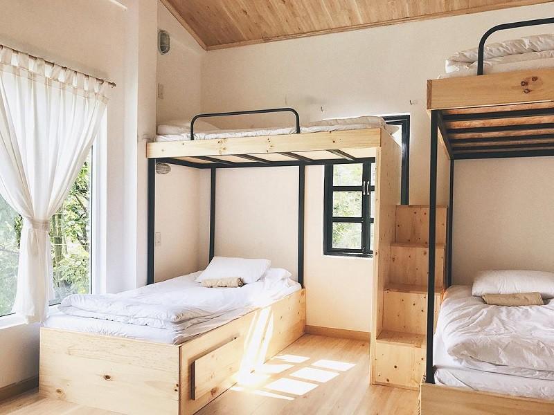 Không gian nội thất của Chái Bơ homestay Đà Lạt