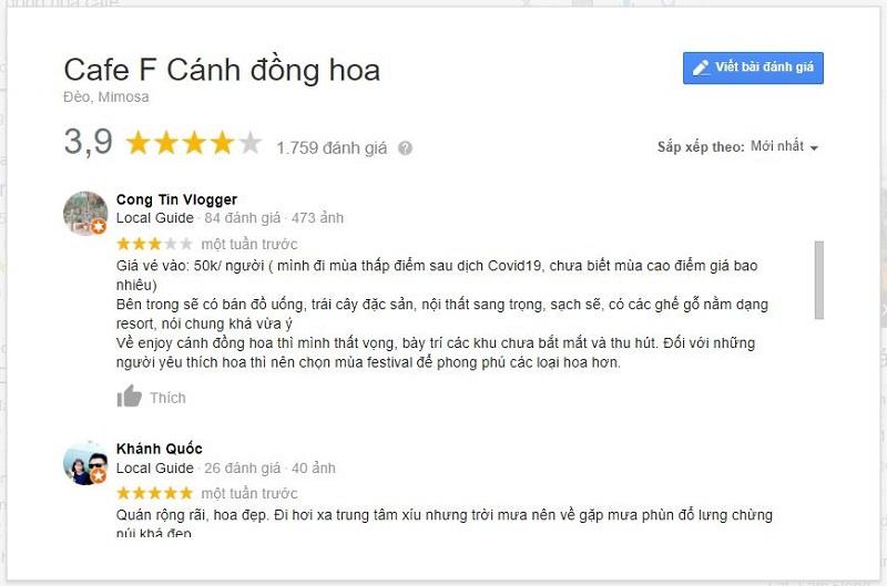review F cánh đồng hoa đà lạt