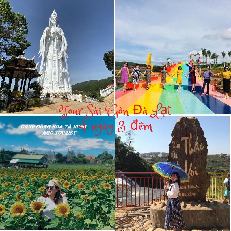 Tour du lịch Sài Gòn Đà Lạt 4 ngày 3 đêm