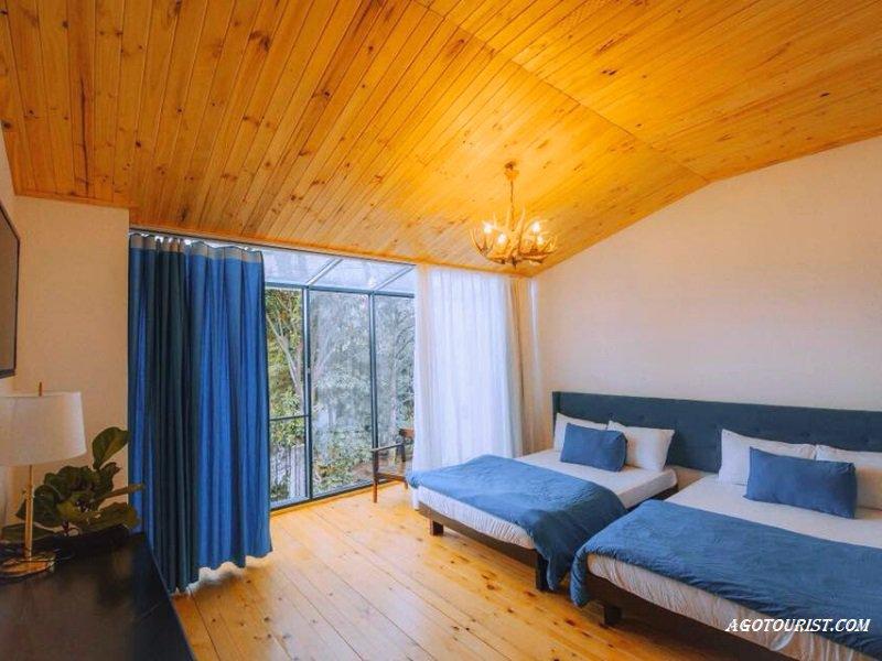 Phòng ngủ ở Lacasa homestay view khá đẹp và rộng rãi
